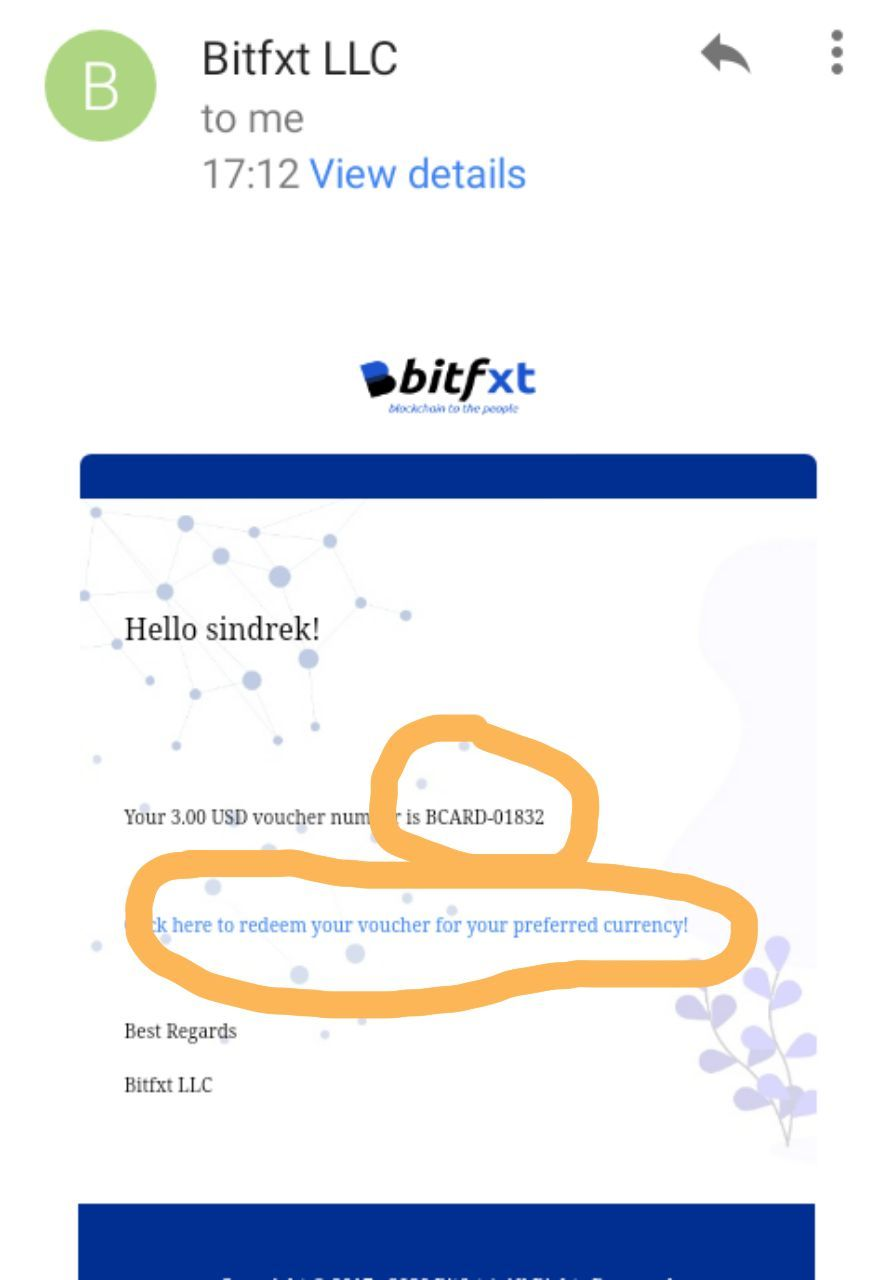 how to Redeem Bitfxt Card