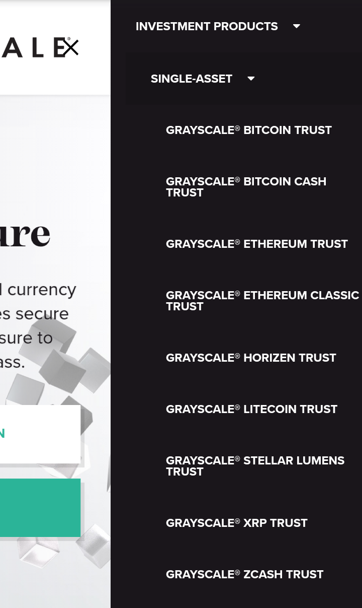 Grayscale cryptocurrency trusts